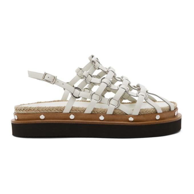 Buy 3.1 Phillip Lim White Yasmine Cage Espadrille Sandals online