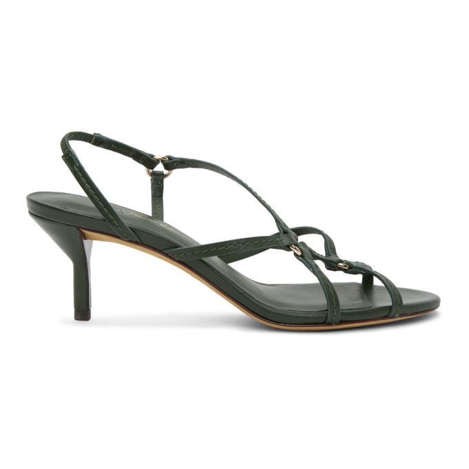 Buy 3.1 Phillip Lim Green Louise Strappy 60mm Sandals online