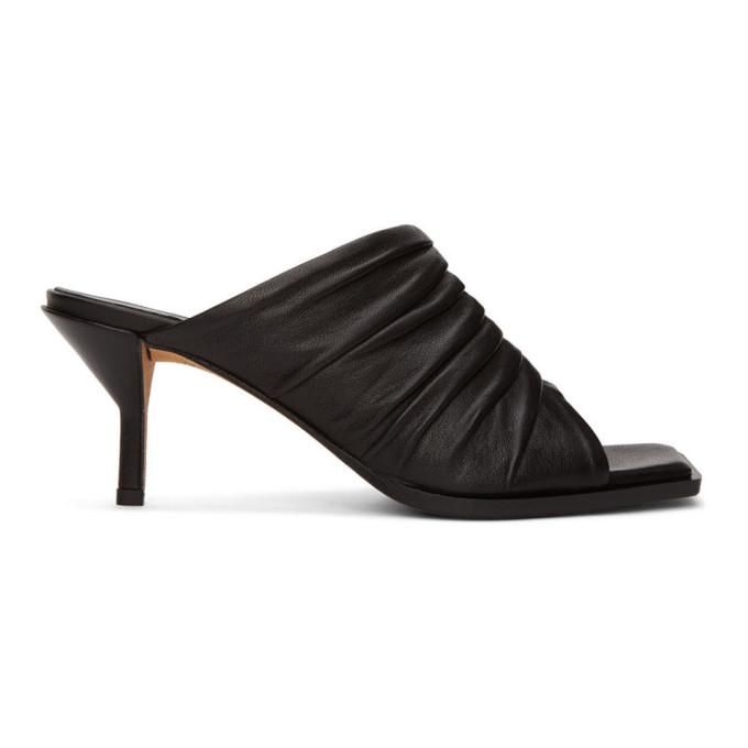 Buy 3.1 Phillip Lim Black Ruched Georgia 60mm Sandals online