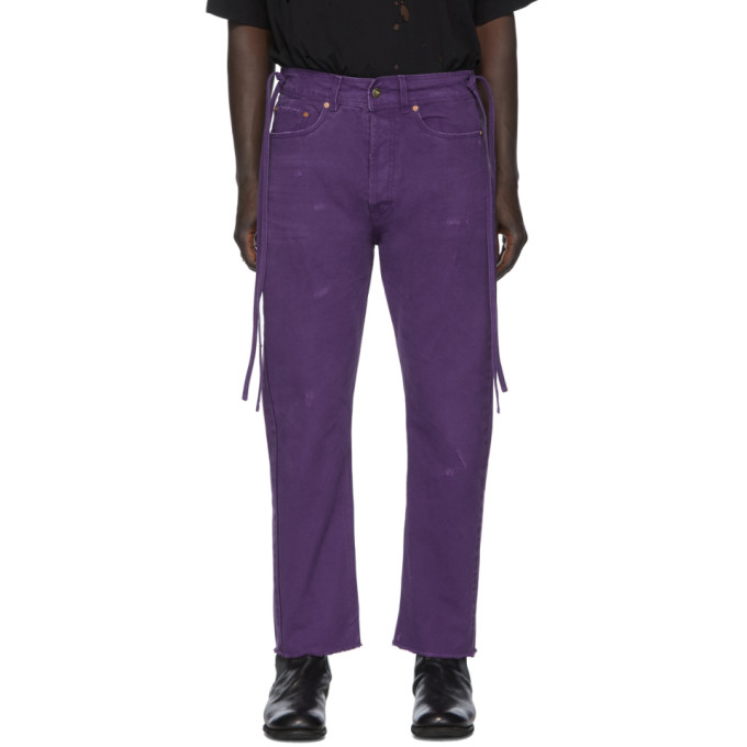 Vyner Articles Jean a effet use mauve Karate