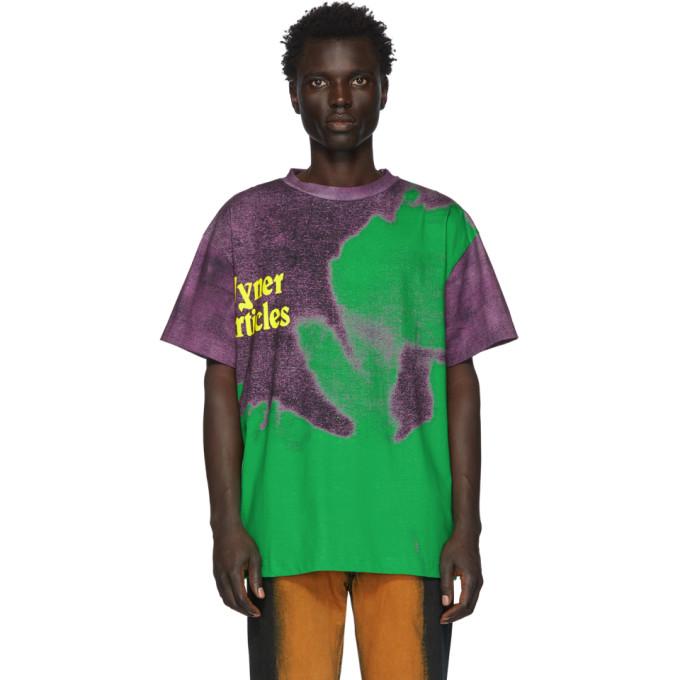 Vyner Articles T-shirt vert et mauve Agatha Vision