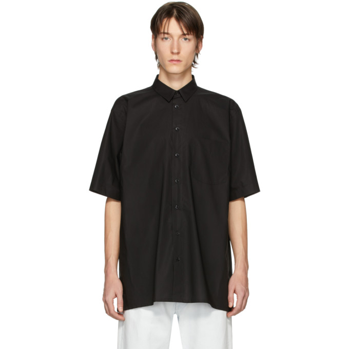 Raf Simons Chemise a manches courtes noire Youth Reanimator Big Fit