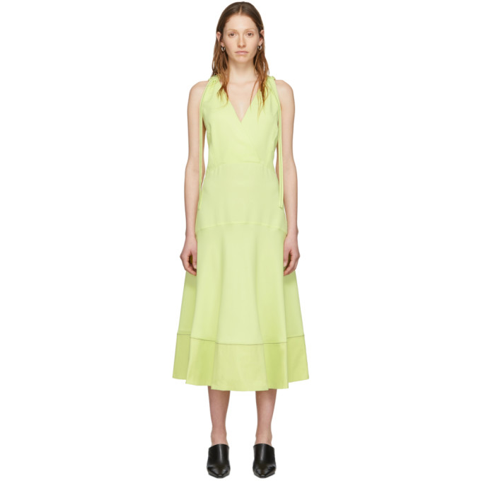 Proenza Schouler Robe sans manches jaune Deep V Proenza Schouler White Label