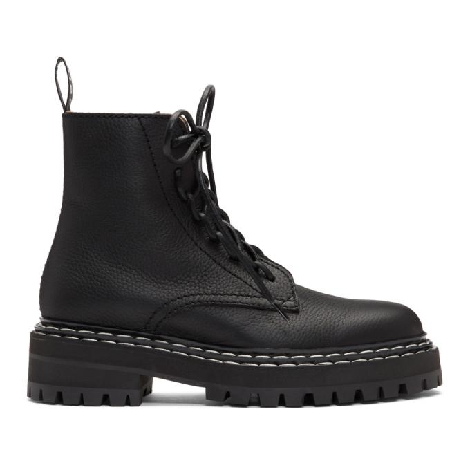 Buy Proenza Schouler Black Lace-Up Ankle Boots online