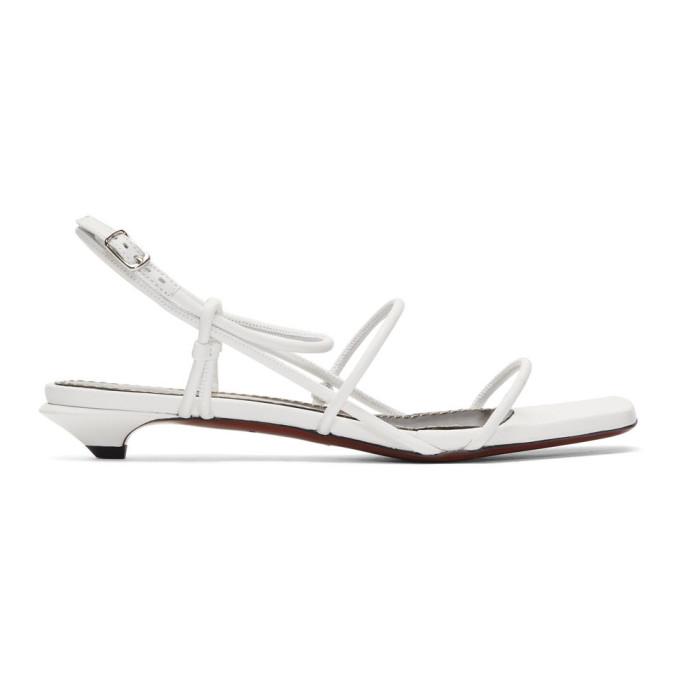 Buy Proenza Schouler White Strappy Low Kitten Heel Sandals online