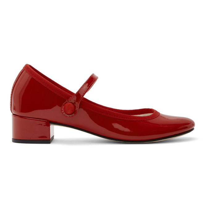 Buy Repetto Red Patent Mary Jane 30 Heels online