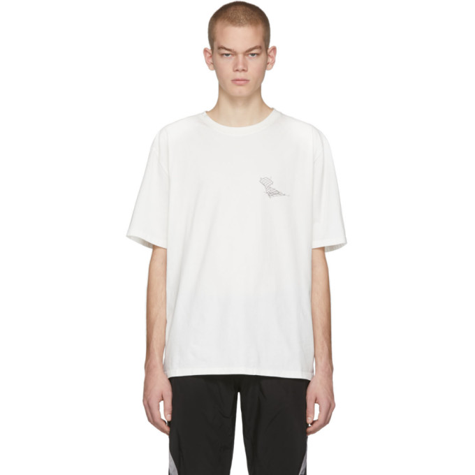 C2H4 T-shirt blanc Distorted Horizon Coordinate