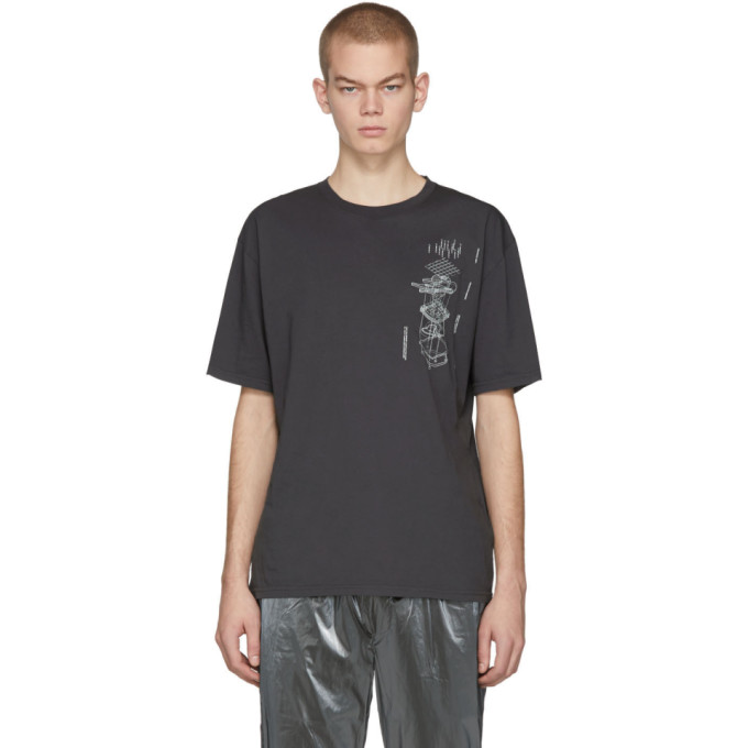 C2H4 T-shirt gris Matrix Of Consciousness