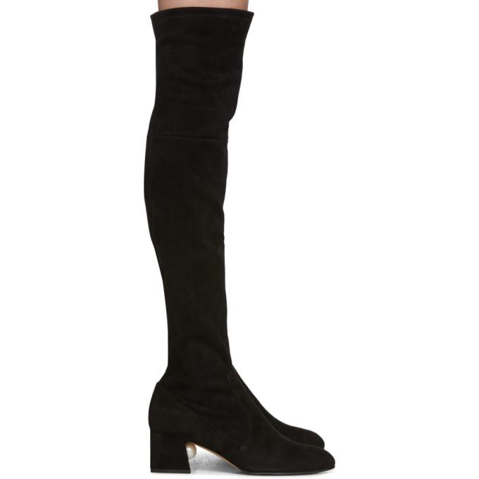 Buy Nicholas Kirkwood Black Suede Miri Over-The-Knee Boots online