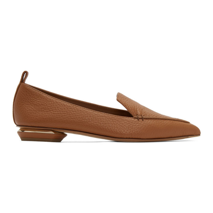 Nicholas Kirkwood Beya Point-toe Grained-leather Loafers In M27 ...