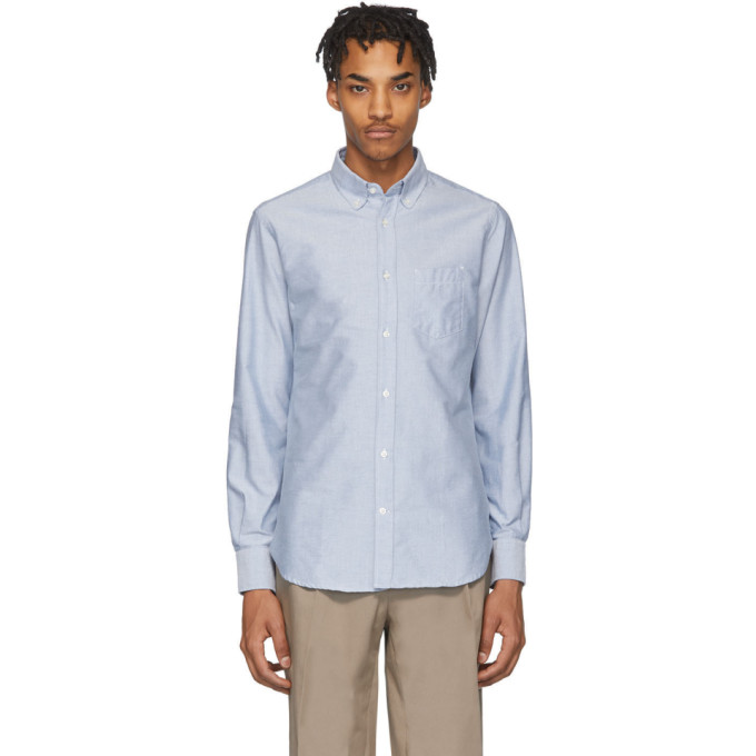 Officine Generale Chemise oxford bleue Antime