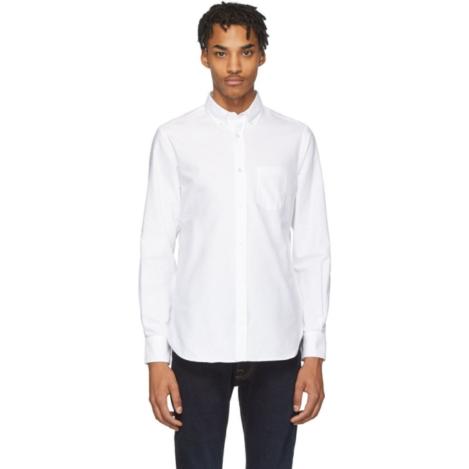 Officine Generale Chemise oxford blanche Antime