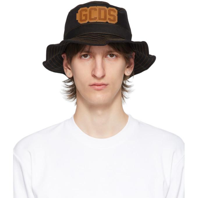 GCDS Chapeau noir Fisherman