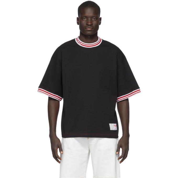 GCDS T-shirt a logo noir Basket
