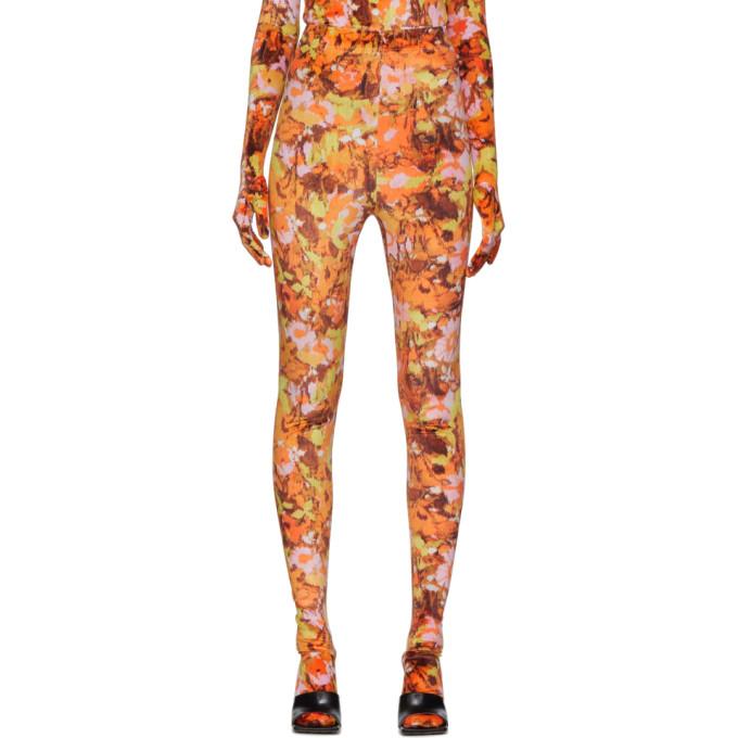 Richard Quinn Legging fleuri orange