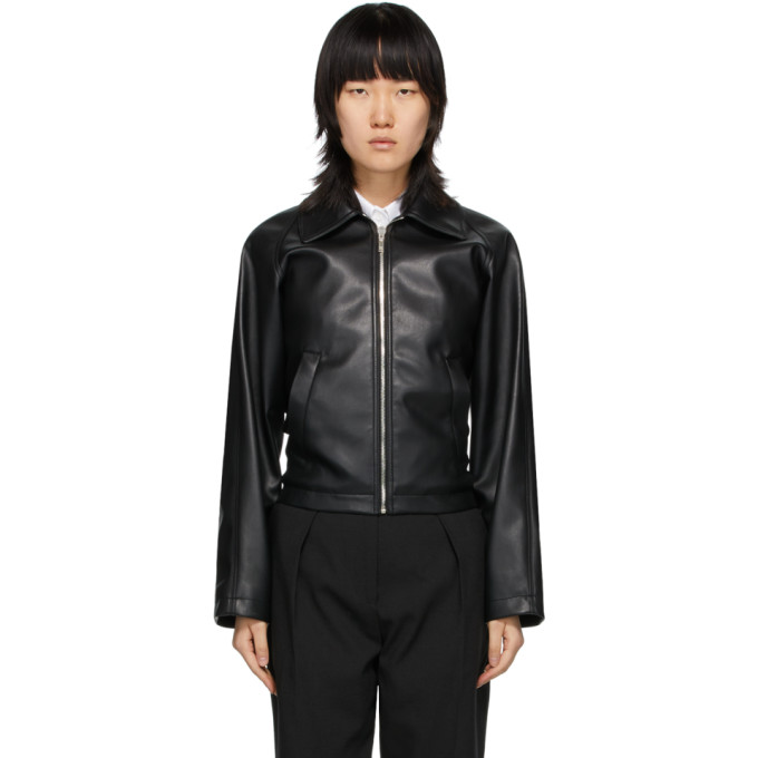 We11done We11done Black Faux Leather Jacket