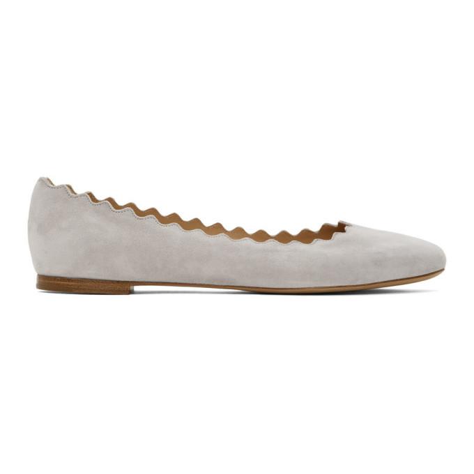 Buy Chloe Grey Suede Lauren Ballerina Flats online