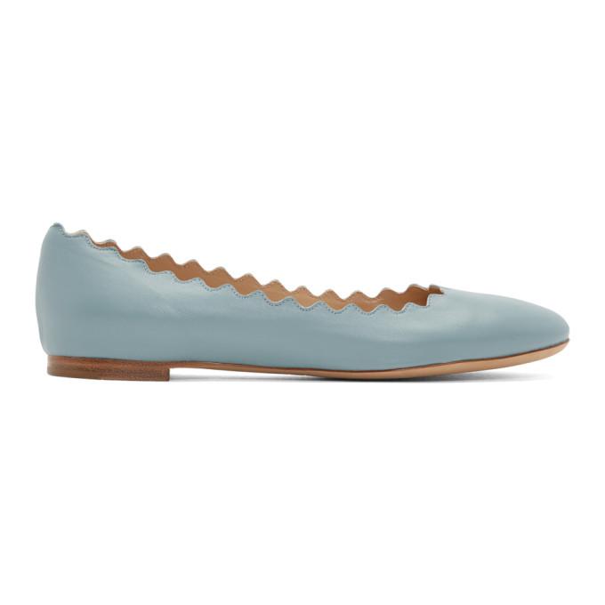 Buy Chloe Blue Lauren Ballerina Flats online