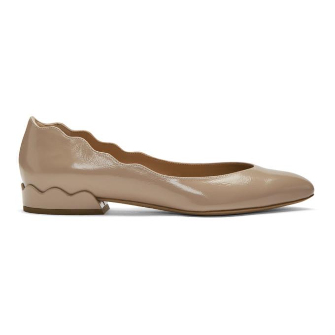Buy Chloe Pink Patent Lauren Ballerina Flats online