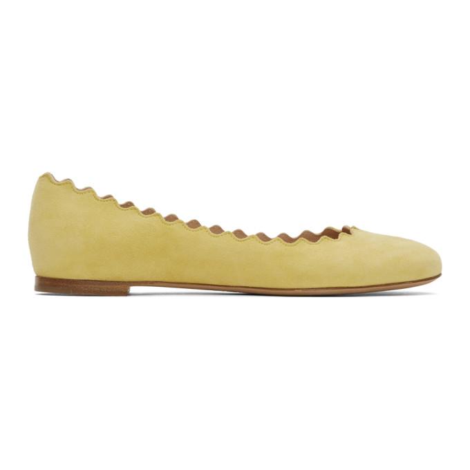 Buy Chloe Yellow Suede Lauren Flats online