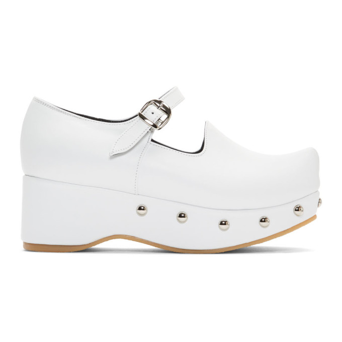 Buy Flat Apartment White Pointed Toe Mary Jane Ballerina Flats online