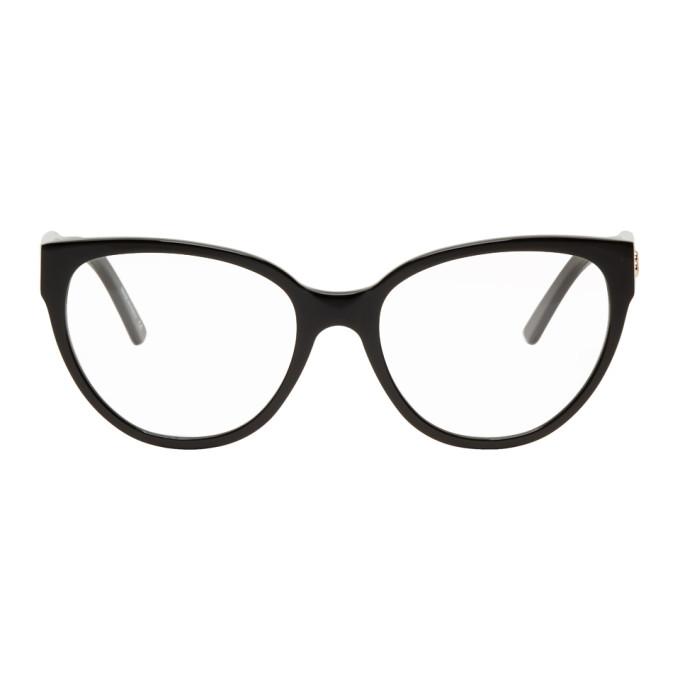 Balenciaga Cat-eye Acetate Glasses In 001 Black