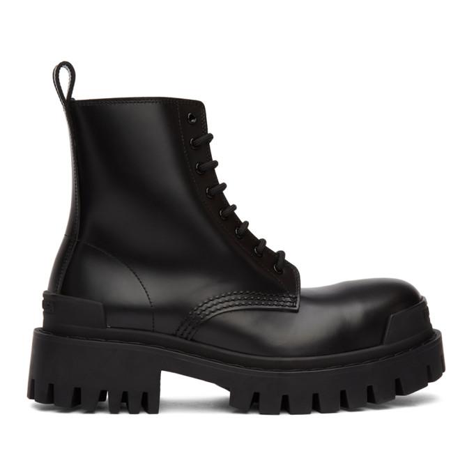 Buy Balenciaga Black Strike Boots online