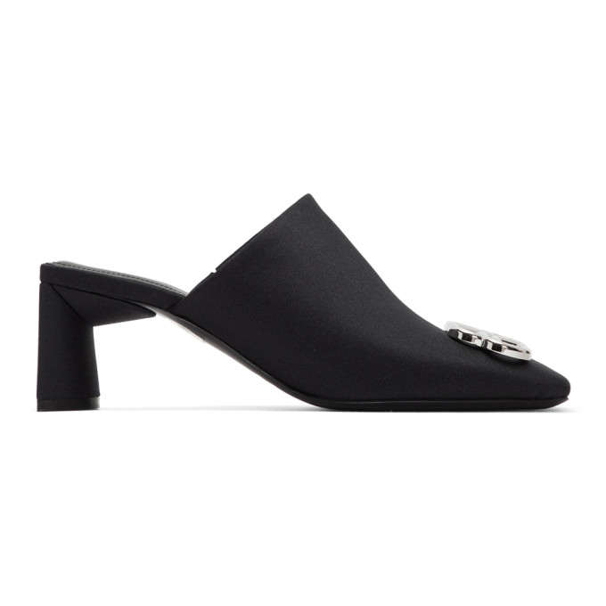 Buy Balenciaga Black BB Double Square Mules online