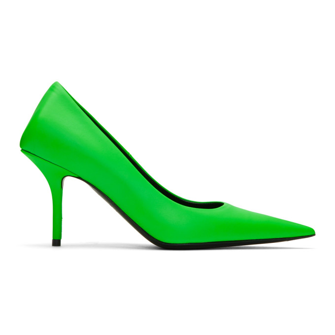 Buy Balenciaga Green Square Knife Heels online