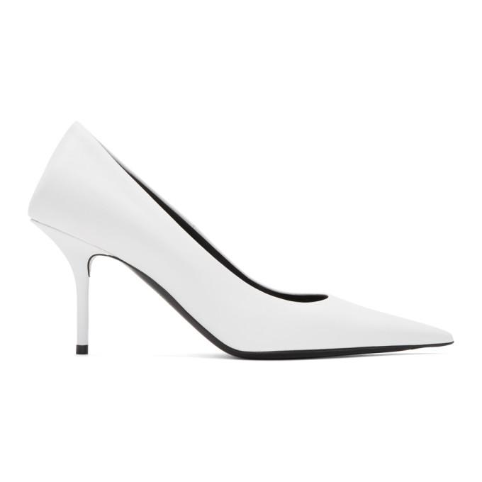 Buy Balenciaga White Square Knife Heels online