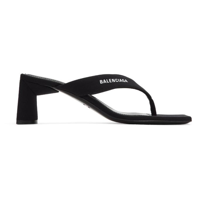 Buy Balenciaga Black Flip Flop Heels online