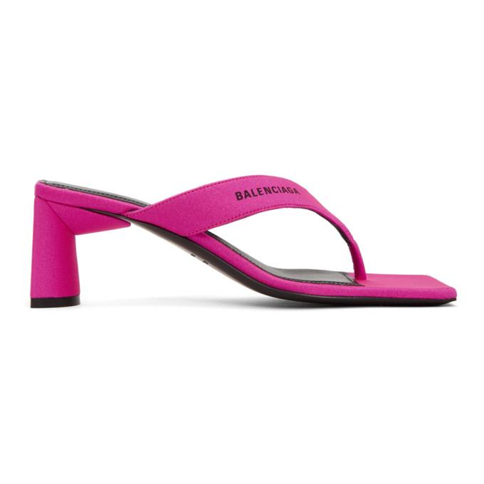 Buy Balenciaga Pink Flip Flop Heels online