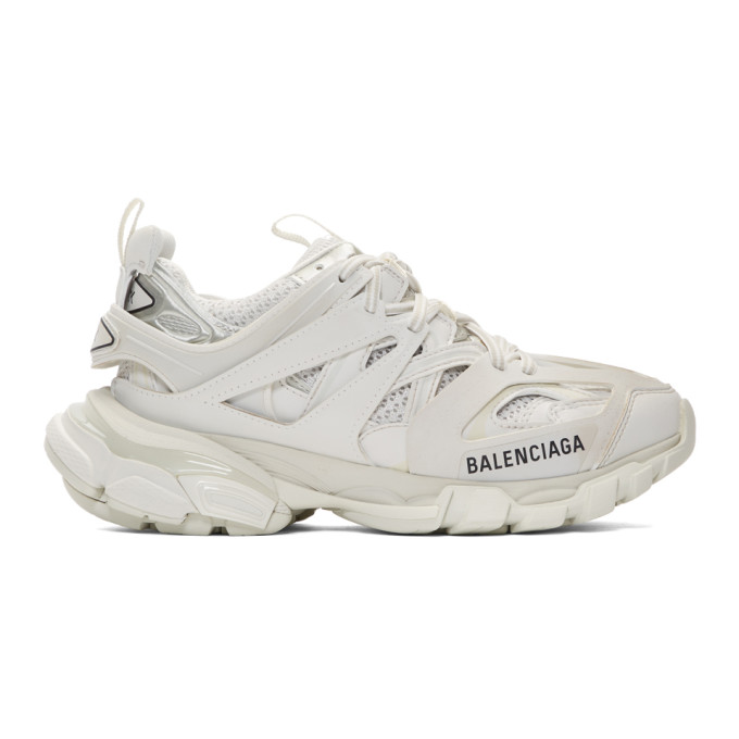 Balenciaga Track Logo-detailed Mesh And Rubber Sneakers In White
