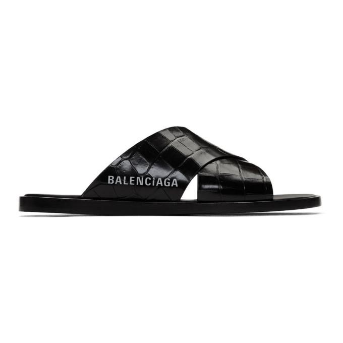 Balenciaga Logo-print Crocodile-effect