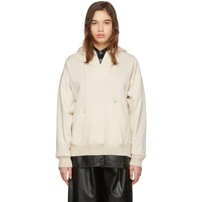 Aeron Pull a capuche blanc casse Faux-Leather Detail