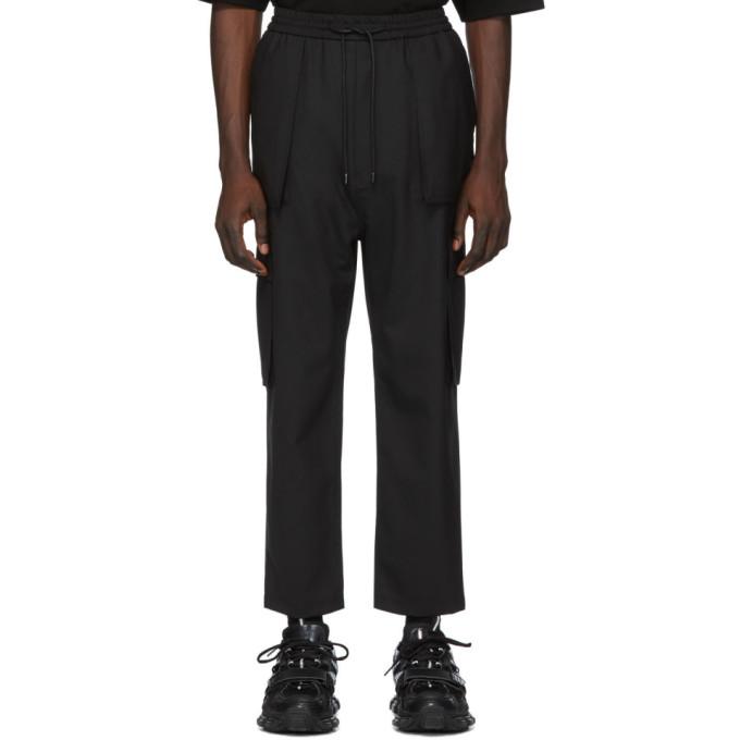 Juun.J Pantalon cargo en laine noir