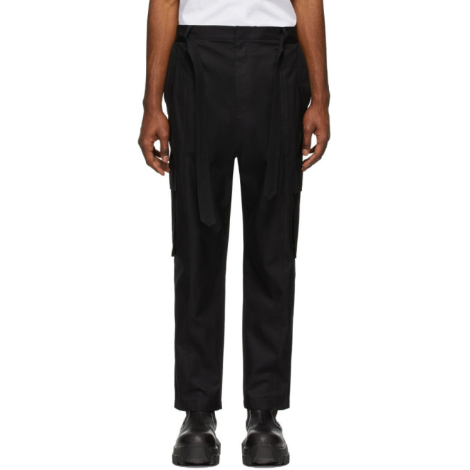 Juun.J Pantalon cargo en coton noir