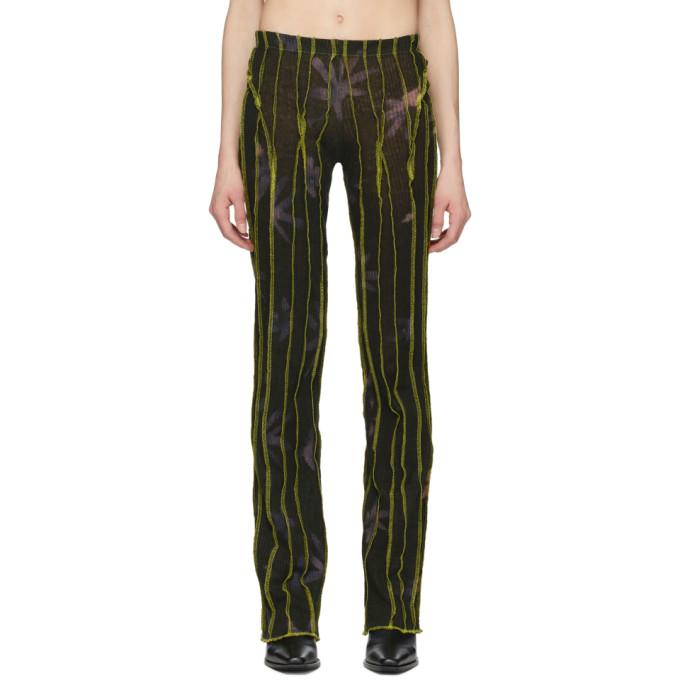 Helenamanzano Pantalon de survetement vert 3D Stripe exclusif a SSENSE