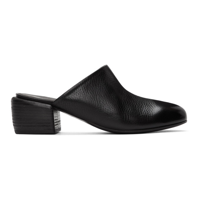 Buy Marsell Black Tondello Block Heel Mules online