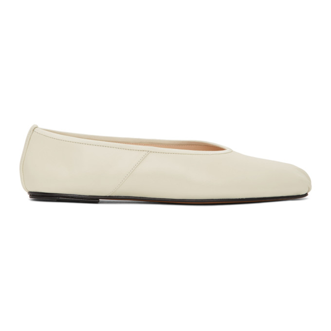 Buy The Row Off-White Ballet Slippers online