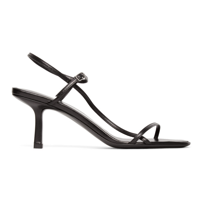 Buy The Row Black Bare 65MM Heeled Sandals online