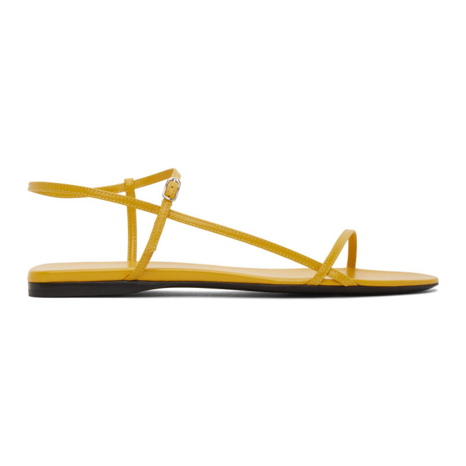 Buy The Row Yellow Bare Flat Sandals online