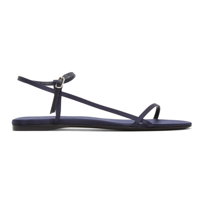 Buy The Row Navy Bare Flat Sandals online