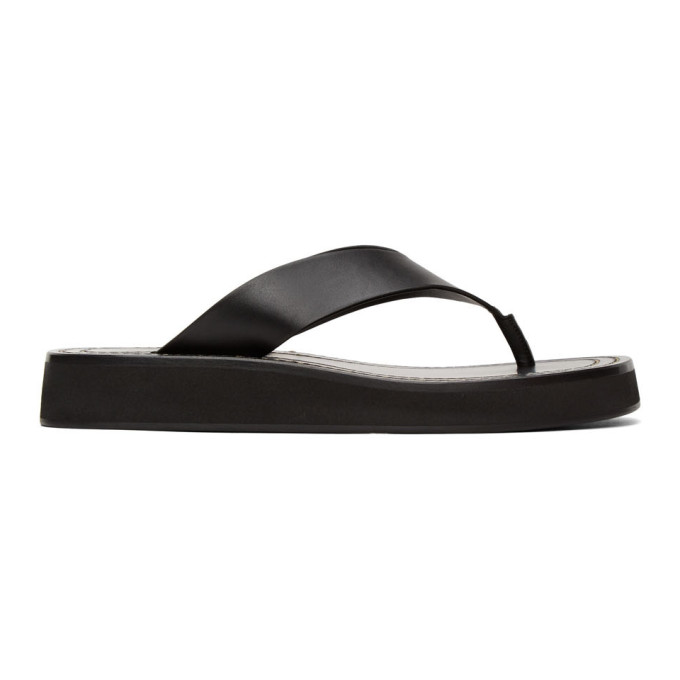 Buy The Row Black Ginza Sandals online