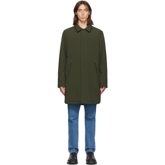 The Very Warm Manteau kaki Shell Filled Mac exclusif a SSENSE
