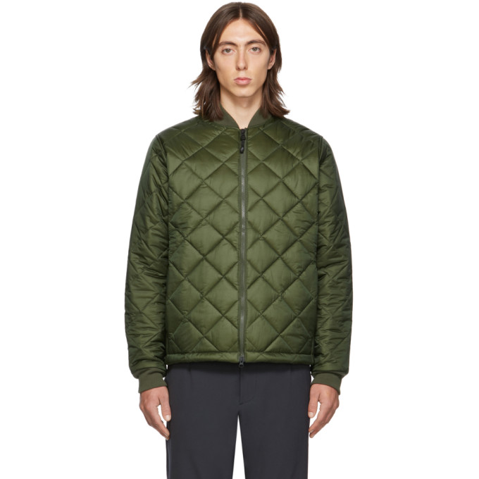 The Very Warm Ssense Exclusive Khaki Light Quilted Bomber Jacket In Olive