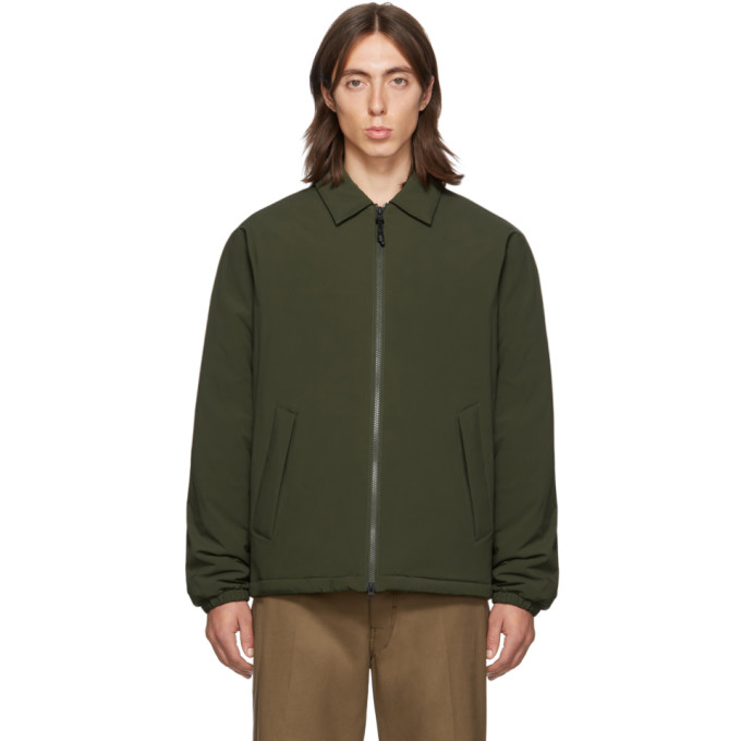 The Very Warm Ssense Exclusive Khaki Fly Weight Coach Jacket In Olive