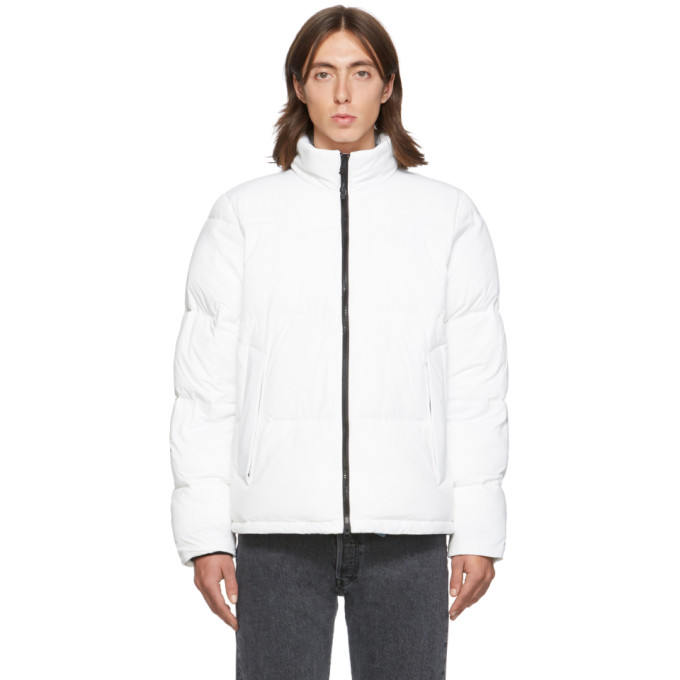 The Very Warm Ssense Exclusive White Quilted Puffer Jacket In Off White