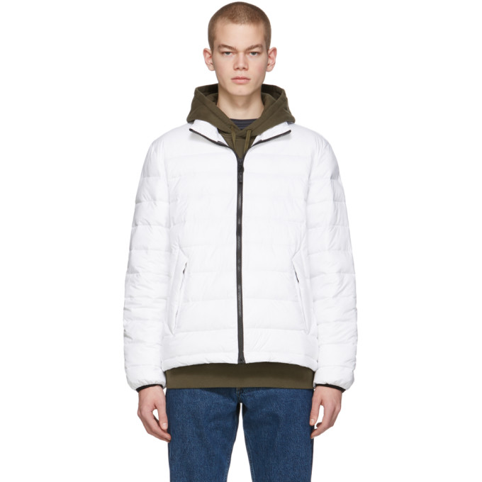 The Very Warm Blouson matelasse blanc casse Liteloft