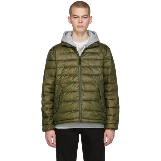 The Very Warm Blouson matelasse vert Liteloft
